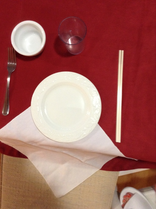 Recreation of place setting